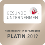 Gesunde Unternehmen - Auszeichnung Platin 2019